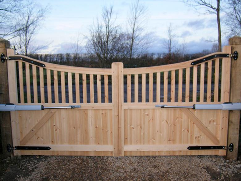 Дачные ворота из дерева своими руками 45