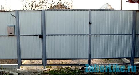 Ворота с калиткой из профлиста своими руками фото фото 796